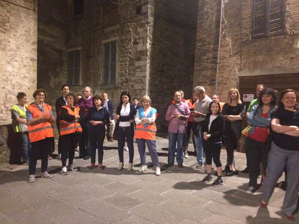 Positive Messengers spread the project messages during the Piedibus del Benessere in Perugia
